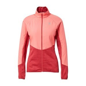 ODLO Sportovní bunda  červený melír / melounová