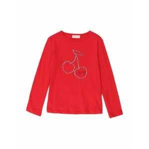 OVS Tričko  červená / bílý melír / černá