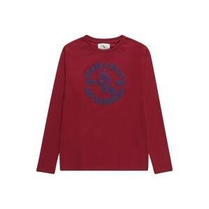 OVS Tričko  karmínově červené / námořnická modř
