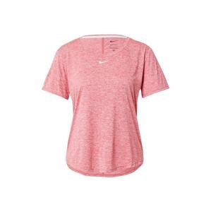 NIKE Tričko  světle růžová / bílá