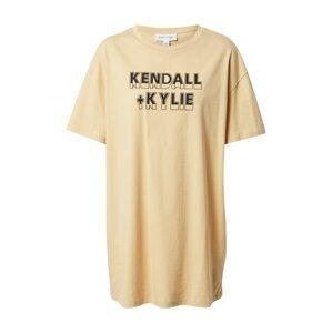KENDALL + KYLIE Tričko  béžová / černá