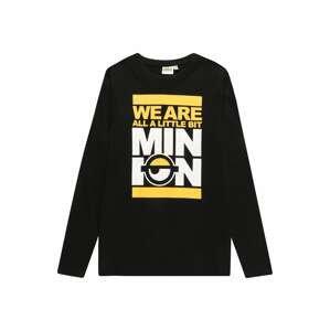 OVS Tričko  černá / bílá / žlutá