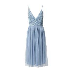 LACE & BEADS Koktejlové šaty 'Mirina'  světlemodrá