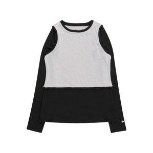 NIKE Funkční tričko  šedá / černá / bílá