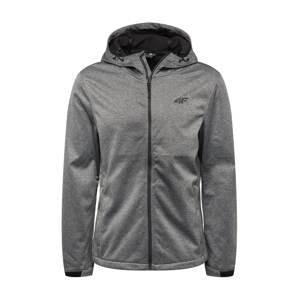 4F Outdoorová bunda  šedý melír / černá