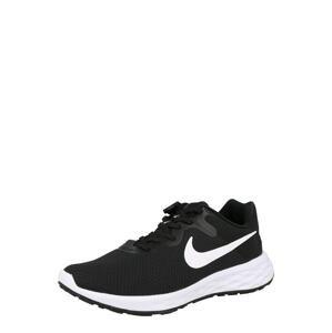 NIKE Běžecká obuv 'Revolution 6'  černá / bílá