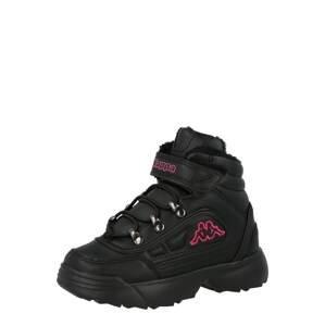 KAPPA Kozačky 'SHIVOO ICE'  černá / pink