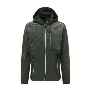 CMP Outdoorová bunda  tmavě šedá / bílá