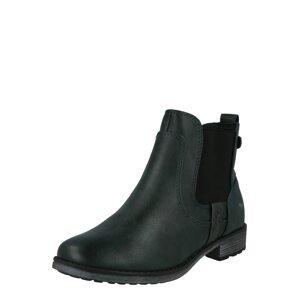 MUSTANG Chelsea boty  petrolejová / kouřově modrá / tmavě šedá