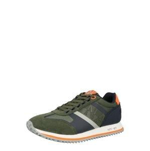 NAPAPIJRI Tenisky 'LARCH'  khaki / námořnická modř / světle šedá / oranžová