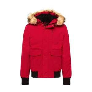 Superdry Zimní bunda 'EVEREST'  červená / černá