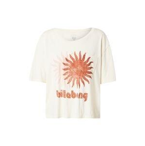 BILLABONG Funkční tričko  béžová / rezavě červená