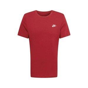 Nike Sportswear Tričko  červená / bílá