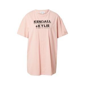 KENDALL + KYLIE Tričko  růžová / černá