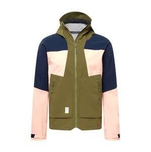 Maloja Outdoorová bunda 'ErdsternM'  olivová / noční modrá / růžová