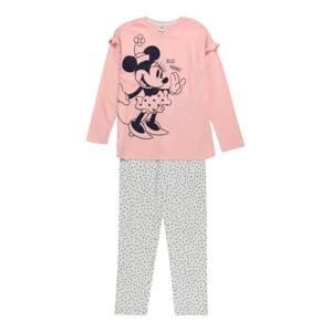 OVS Pyžamo  pink / šedá / noční modrá