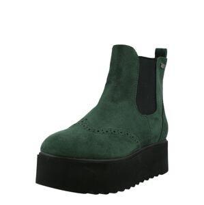 ZABAIONE Chelsea boty 'Isabel'  černá / tmavě zelená