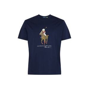 Polo Ralph Lauren Big & Tall Tričko  námořnická modř / hnědá / bílá / červená