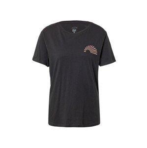 BILLABONG Tričko  černá / starorůžová
