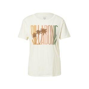 BILLABONG Tričko  oranžová / lososová / zelená / hnědá / bílá
