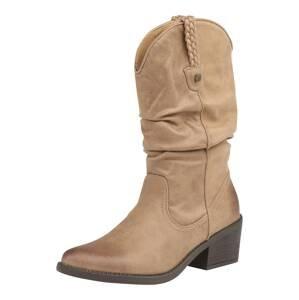 MTNG Kovbojské boty 'TANUBIS'  šedobéžová
