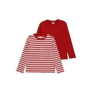 OVS Tričko  červená / šedý melír