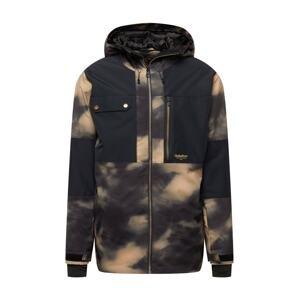 QUIKSILVER Sportovní bunda 'TAMARACK'  černá / tmavě šedá / světle béžová