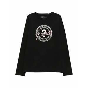 GUESS Tričko  černá / bílá / růžová