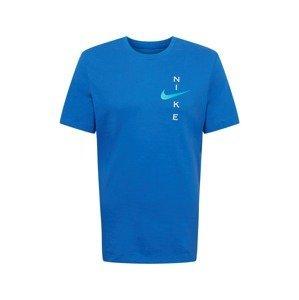 NIKE Funkční tričko  královská modrá / světlemodrá / bílá