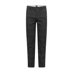 BOSS Casual Kalhoty 'Schino-Taber'  černá / tmavě šedá