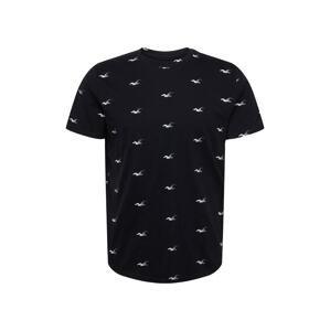 HOLLISTER Tričko  černá / bílá