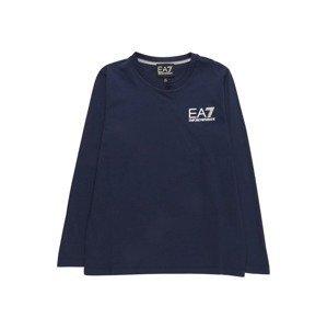 EA7 Emporio Armani Tričko  tmavě modrá / bílá