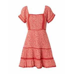 American Eagle Letní šaty  červená / bílá