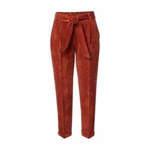 MORE & MORE Kalhoty se sklady v pase  humrová