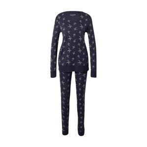 SCHIESSER Pyžamo  tmavě modrá / světle růžová / tyrkysová