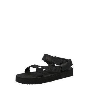 Public Desire Trekingové sandály  černá