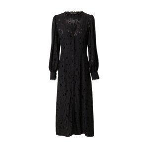 KAREN BY SIMONSEN Košilové šaty 'Janet'  černá