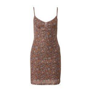 Motel Letní šaty 'Tintin'  hnědá / bílá / kámen / oranžová