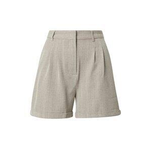 NA-KD Kalhoty se sklady v pase  světle béžová