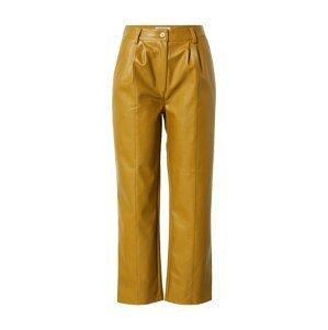 NA-KD Kalhoty se sklady v pase  rákos
