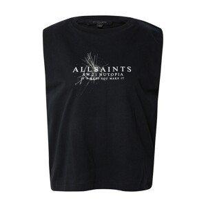 AllSaints Mikina  černá / bílá
