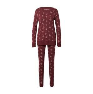 SCHIESSER Pyžamo  burgundská červeň / růžová