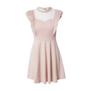 WAL G. Koktejlové šaty  pastelově růžová