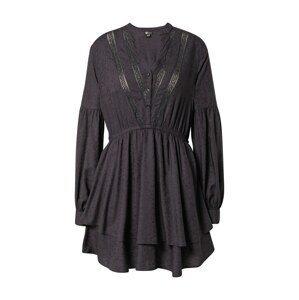 BILLABONG Košilové šaty  černá