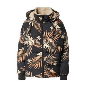 BILLABONG Outdoorová bunda  černá / pastelově oranžová / tmavě zelená / bílá