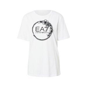 EA7 Emporio Armani Tričko  tmavě šedá / černá / offwhite