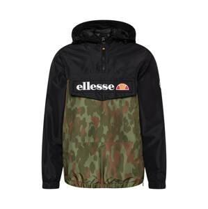 ELLESSE Přechodná bunda 'Mont 2'  černá / khaki / hnědá / trávově zelená