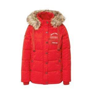 Soccx Zimní bunda  červená / bílá / olivová