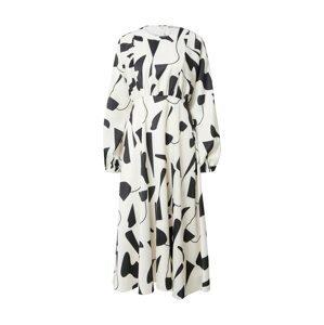 NA-KD Košilové šaty  bílá / černá
