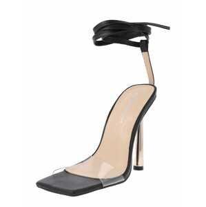 Public Desire Páskové sandály 'IGNITE'  černá / průhledná